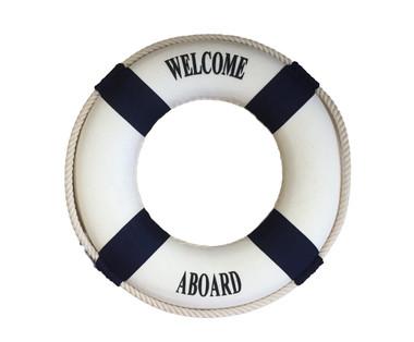 Welcome Aboard Life Ring  Nautical Seasons