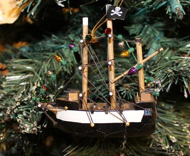 Pirate Ship Christmas Ornament  Nautical Seasons