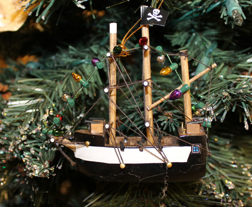 Pirate Ship Christmas Ornament  Nautical Seasons