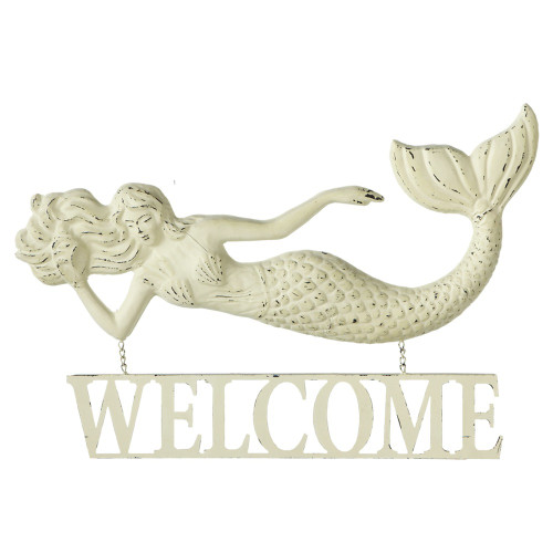 Mermaid Welcome Large Sign  Nautical Seasons