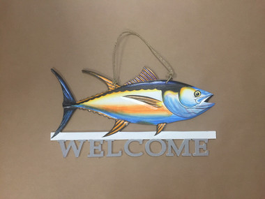Fish Welcome Sign  Nautical Seasons