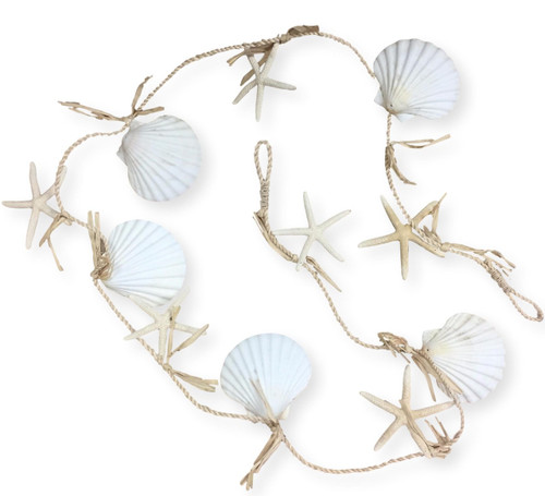 Starfish Clam Shell Garland  Nautical Seasons