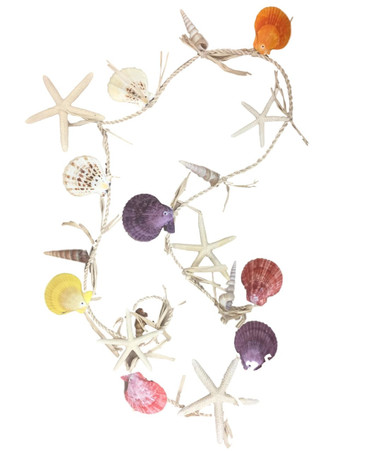Scallop Shell Garland  Nautical Seasons