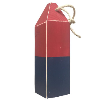 Vintage Style Red Blue Buoy Nautical Seasons