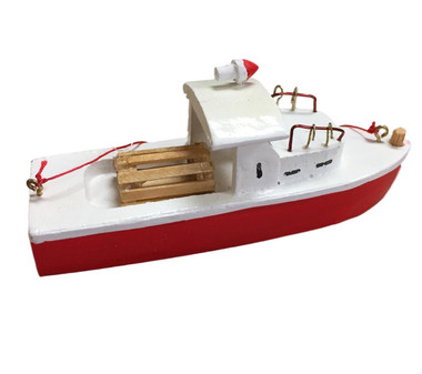 Lobster Boat Year Round Christmas Ornament  Nautical Seasons