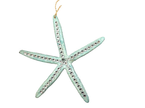 "Starfish Ornament With ""diamonds""  Nautical Seasons"