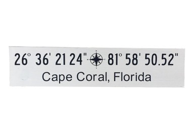 Latitude Longitude Wooden Sign Custom Nautical Seasons