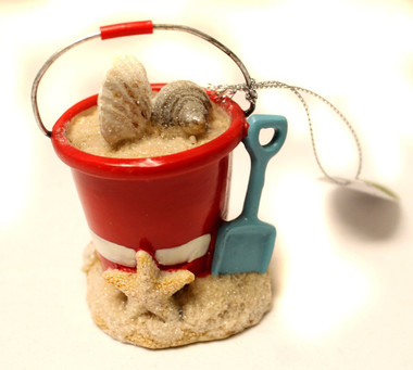 Beach Bucket Christmas Ornament #19509