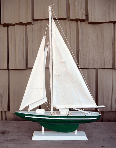 "19"" Sailboat on Stand Color: Red, Blue, Green #6006"