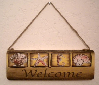Seashell Welcome Sign #5028