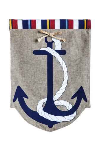 Burlap Anchor Garden Flag #15134