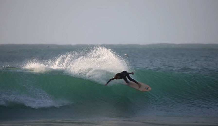 Unidentified ripper utilizing his Vissla Wetsuit