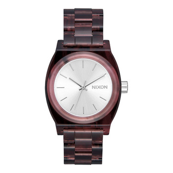 Nixon Medium Time Teller Acetate Watch - Red