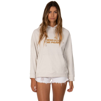 SisstrEvolution Head In The Palms Knit L/S Hoodie - Vintage White