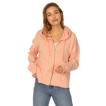 SisstrEvolution Zippin Along Knit Hooded Fleece - Peach