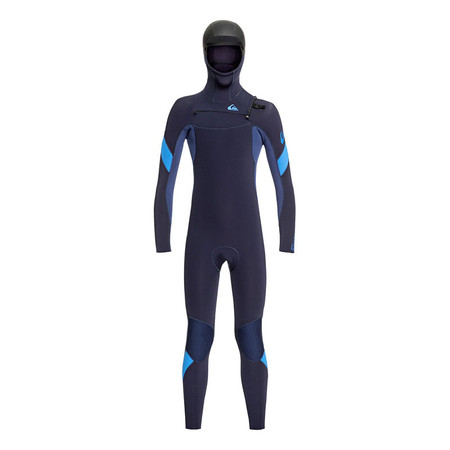 Quiksilver Boys Syncro 5/4/3 Hooded Wetsuit - Dark Navy / Iodine Blue