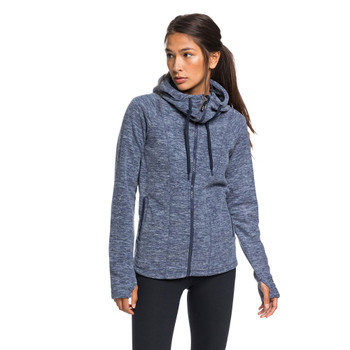 Roxy Electric Feeling 3 Zip Hoodie - Mood Indigo Heather