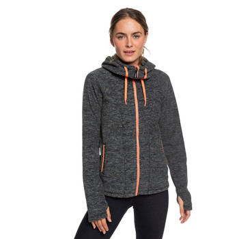 Roxy Electric Feeling 3 Zip Hoodie - Charcoal Heather