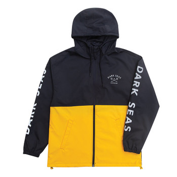 Dark Seas Foul Weather Storm Shell Jacket - Navy / Gold