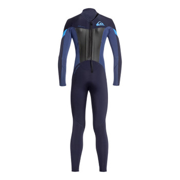 Quiksilver Youth Syncro 5/4/3 Wetsuit - Dark Navy / Iodine Blue - Back