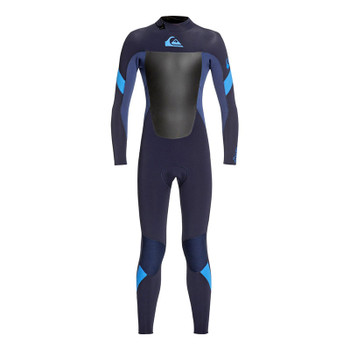 Quiksilver Youth Syncro 5/4/3 Wetsuit - Dark Navy / Iodine Blue