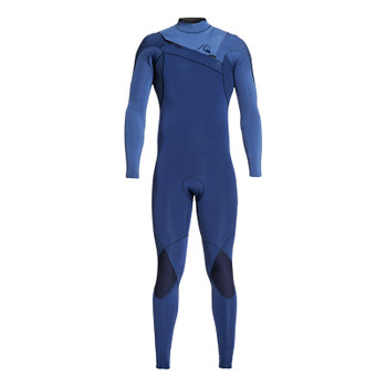 Quiksilver Highline LTD Monochrome 3/2 Chest Zip Wetsuit - Iodine Blue / Cascade Blue