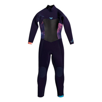 Roxy Girls Syncro 4/3 Wetsuit - Blue Ribbon / Coral Flame