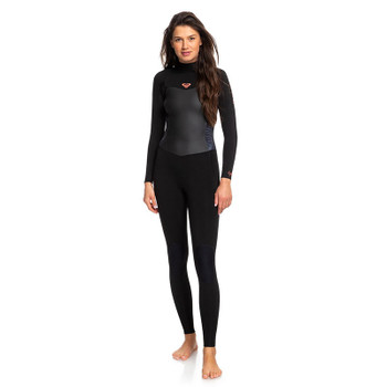 Roxy Womens Syncro 5/4/3 Back Zip Wetsuit - Black / Gunmetal