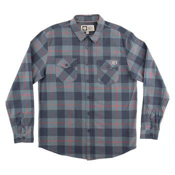 Salty Inshore Flannel - Navy