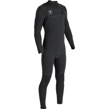 Vissla 7 Seas Power Seam 4/3 Chest Zip Wetsuit - Black
