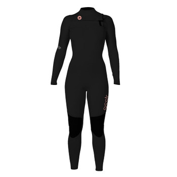 SisstrEvolution 7 Seas 3/2 Chest Zip Wetsuit - Black