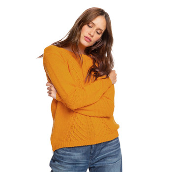 Roxy Glimpse Of Romance Sweater - Golden Glow