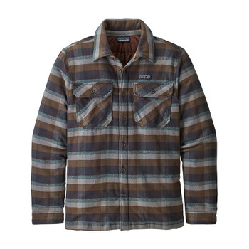 Patagonia Men's Insulated Fjord Flannel Jacket - Observer / Black Ink
