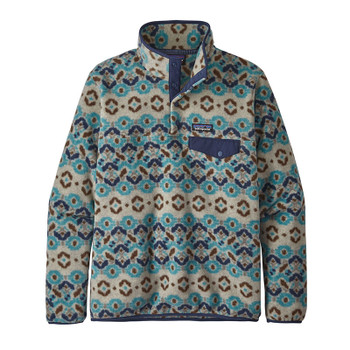 Patagonia Women's Lightweight Synchilla Snap-T Pullover Fleece - Tundra Cluster / Big Sky Blue