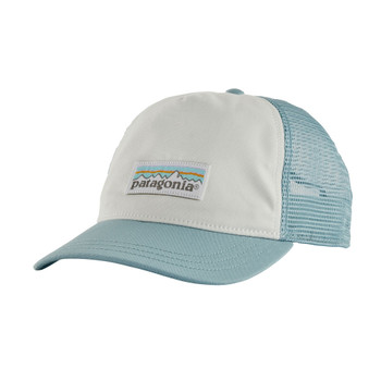 Patagonia Women's Pastel P-6 Label Layback Trucker Hat - White / Big Sky Blue