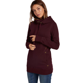 Volcom Tower Pullover Fleece Hoodie - Merlot