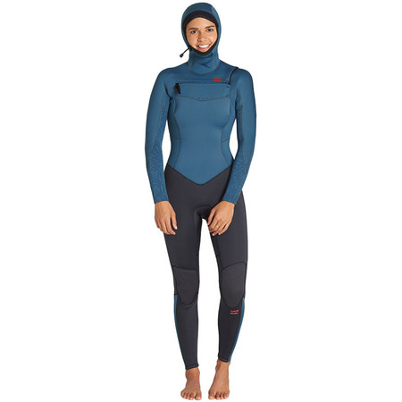 Billabong Women's Furnace Synergy 5/4 Hooded Wetsuit - Black Marine