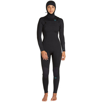 Billabong Women's Furnace Synergy 5/4 Hooded Wetsuit - Black