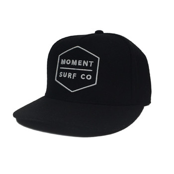 Moment Boxed Logo Hat - Black / Silver