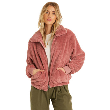 Billabong Always Cozy Sherpa Jacket - Soft Plum