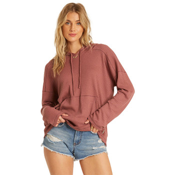Billabong Days Like This Knit Hoodie -Washed Plum