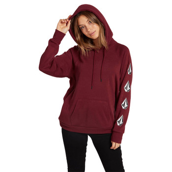 Volcom Deadly Stone Pullover Hoodie - Zinfandel