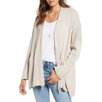 Lira Chloe Drape Cardigan - Light Grey