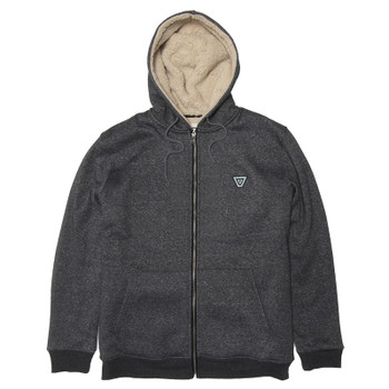 Vissla The Trip Sherpa Zip Hoodie - Black Heather