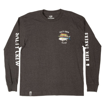 Salty Crew Voyager L/S Tee - Charcoal Heather