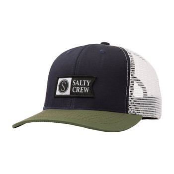 Salty Crew Pinnacle Retro Trucker Hat - Mist / Olive