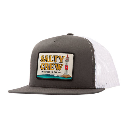 Salty Crew Point Loma Trucker Hat - Grey / White