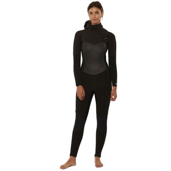 SisstrEvolution 7 Seas 5/4 Hooded Chest Zip Wetsuit - Black Heather