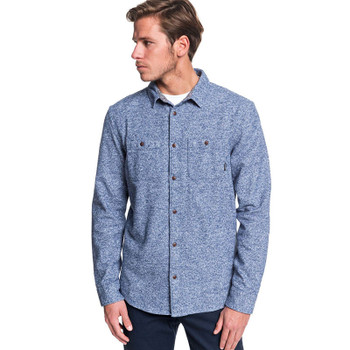 Quiksilver Wollemi Long Sleeve Shirt - Moonlit Ocean Heather