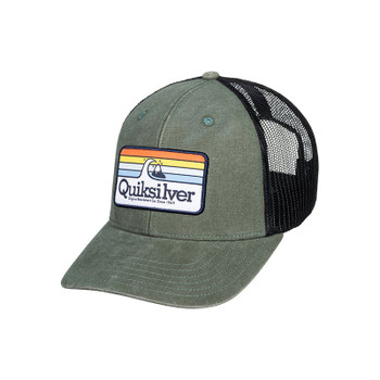 Quiksilver Clean Lines Trucker Hat - Agave Green